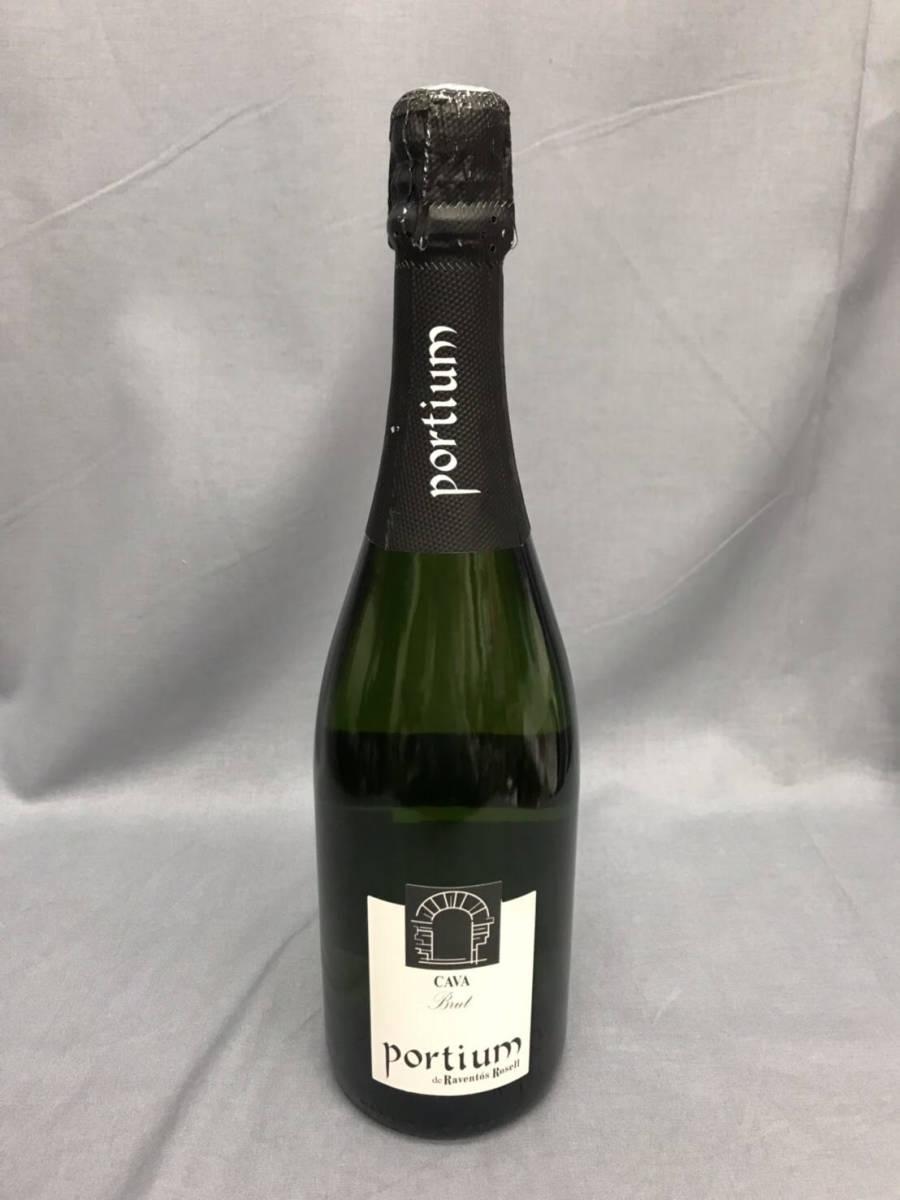 ★未開栓★Portium Cava Brut カヴァ ブリュット 750ml 11.5% スパークリングワイン 古酒_画像1