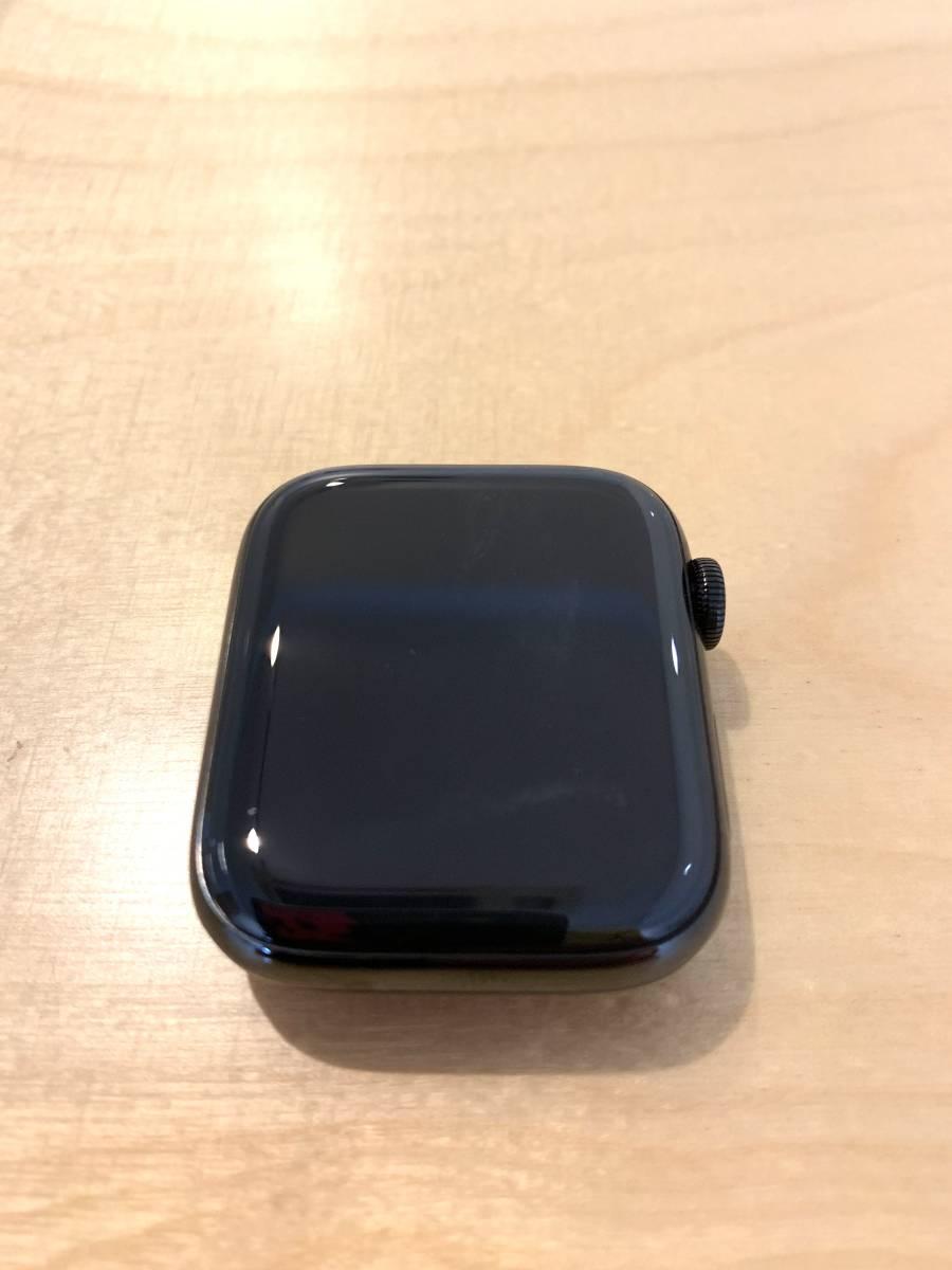 【美品】アップル Apple Watch Series 4 GPS+Cellularモデル- 44mm スペースブラックステンレススチールケース と ブラックスポーツバンド_画像4
