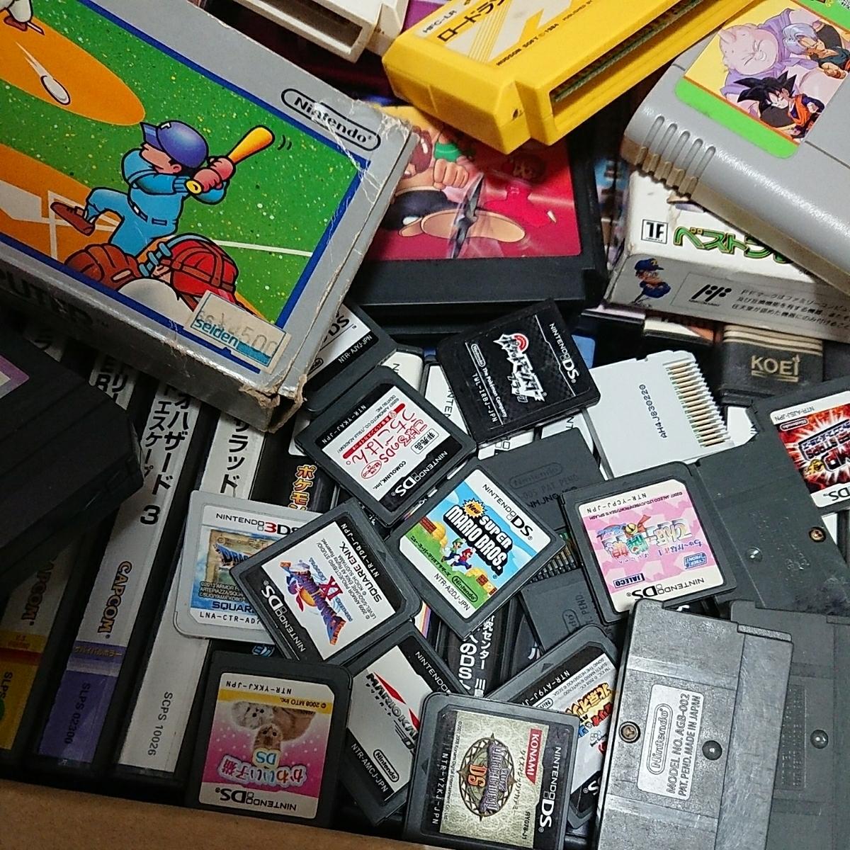 ゲームソフト大量 FC,GB,GBA,DS,3DS,PSP,PSVITA,などまとめて!!ジャンク品 管理No.007_画像4