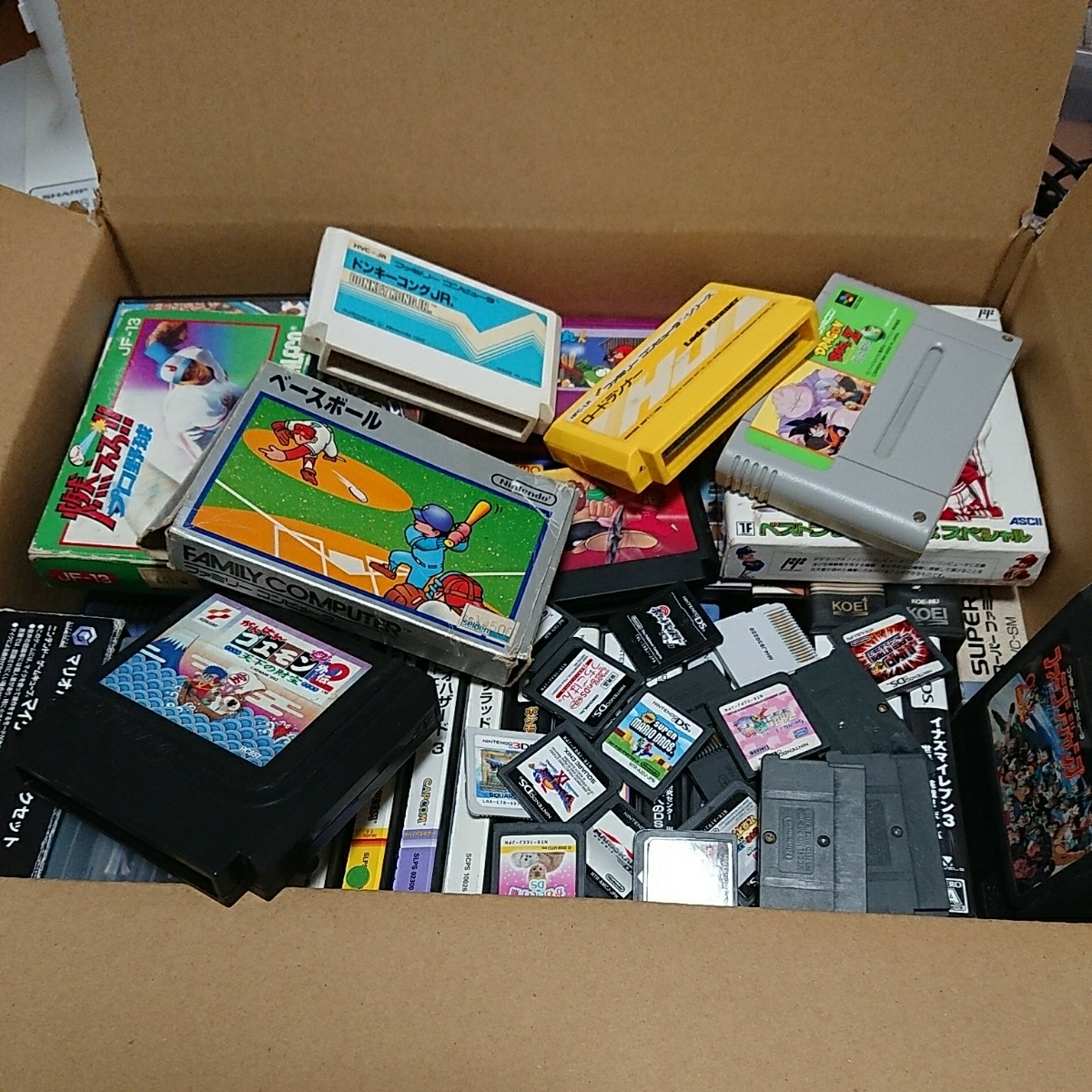 ゲームソフト大量 FC,GB,GBA,DS,3DS,PSP,PSVITA,などまとめて!!ジャンク品 管理No.007