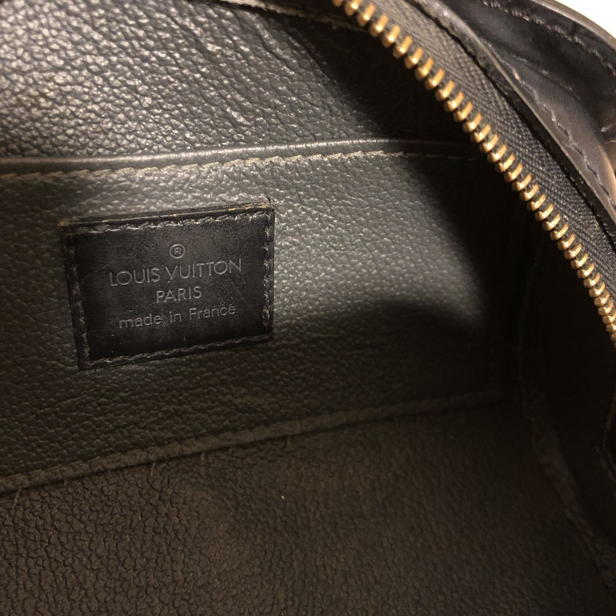 LOUIS VUITTON ルイヴィトン エピ ドフィーヌPM ポーチ 黒_画像4