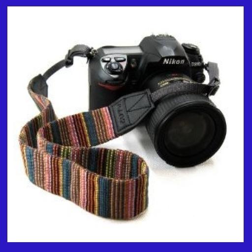 お買い得(+_+)☆彡♪色赤 カメラ 用 ネック ストラップ 両面柄有り (デジタル 一眼レフ ミラーレス コンパクト デジカメ