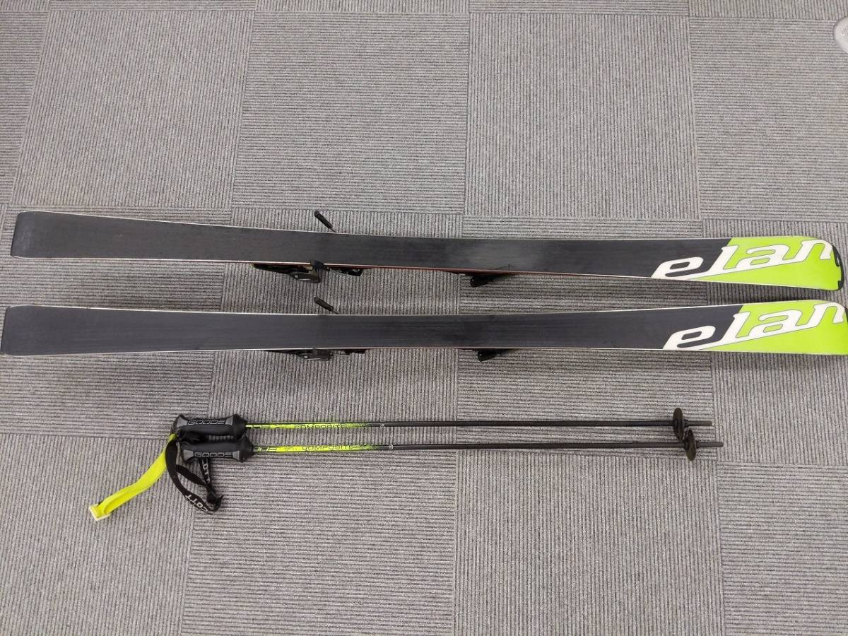 C③④0704-27 RACE GSX スキー板 L164/109-66-98/R14.6 中古_画像6