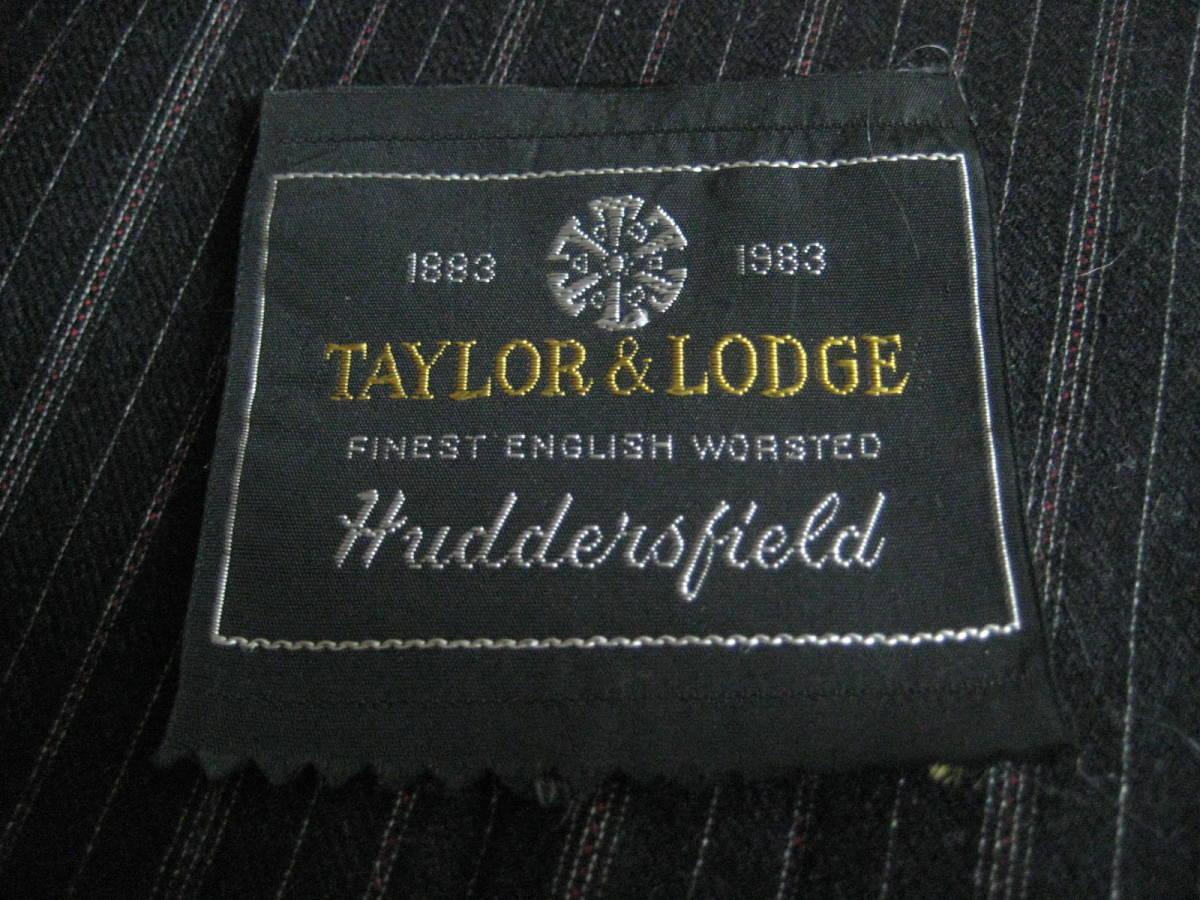 名品 テーラー&ロッジ チャコールグレー地に白とボルドーのオルタネイトストライプ 2.8m Taylor&Lodge_画像9