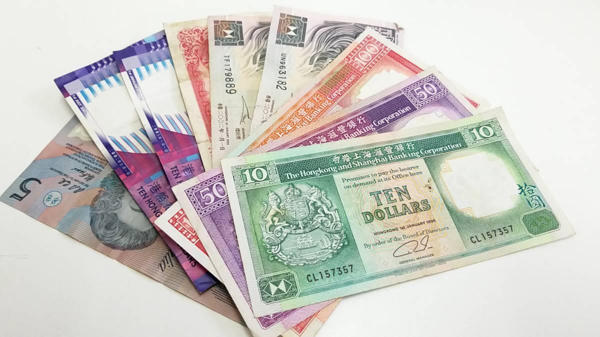 A8374 外国 紙幣 中国 香港