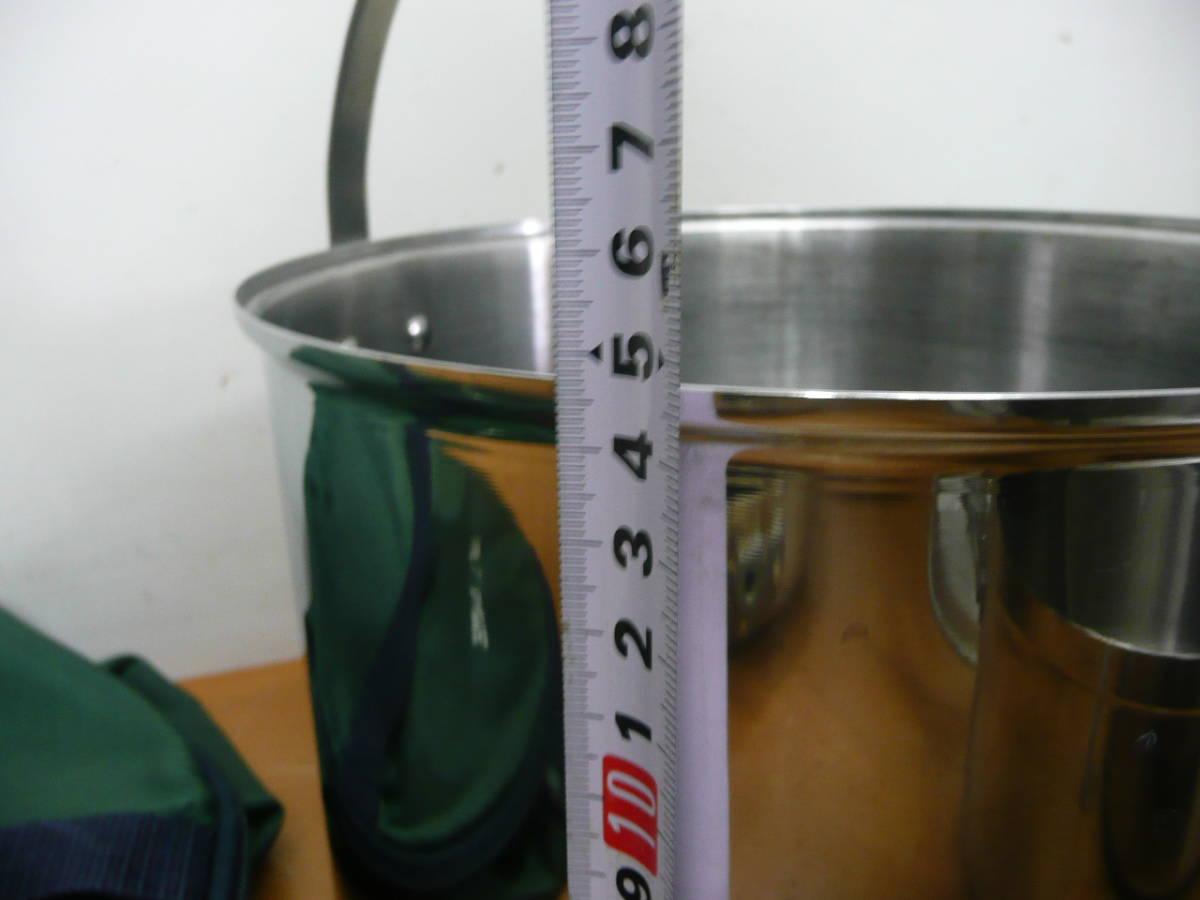 中古 ユニフレーム 鍋セット(フライパン、鍋×3種類、ザル)計5点セット  コンパクト収納 キャンプ アウトドア_画像10