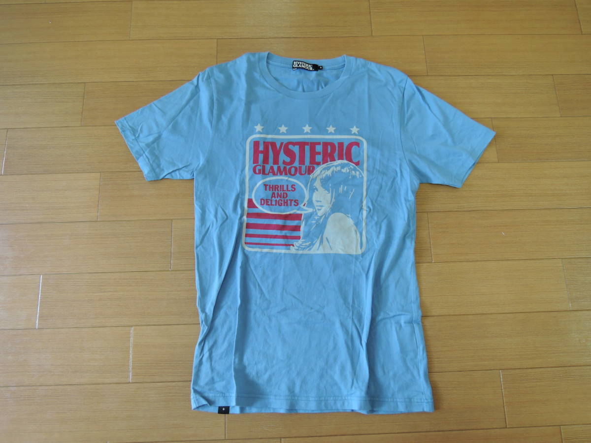 HYSTERIC GLAMOURヒステリックグラマーTシャツS水色系ガール/カットソー_画像1