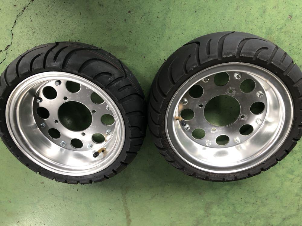 モンキー アルミホイール タイヤ セット 8インチ ほぼ新品_画像2
