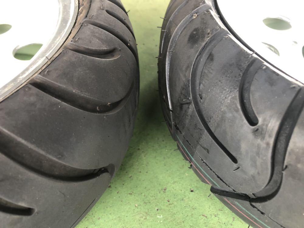 モンキー アルミホイール タイヤ セット 8インチ ほぼ新品_画像4