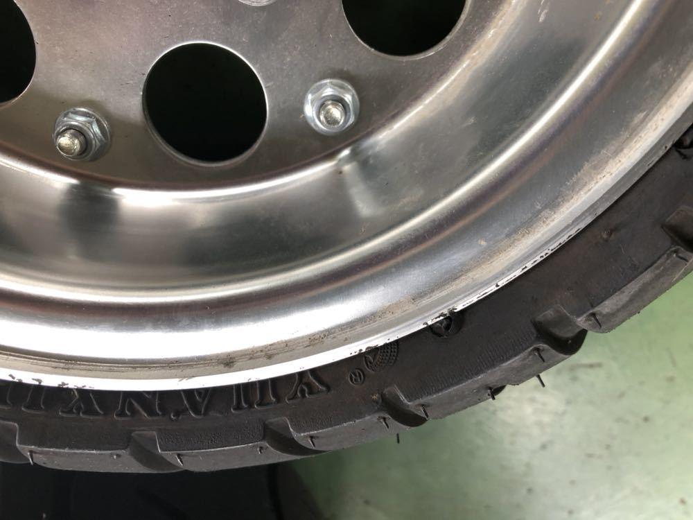 モンキー アルミホイール タイヤ セット 8インチ ほぼ新品_画像3