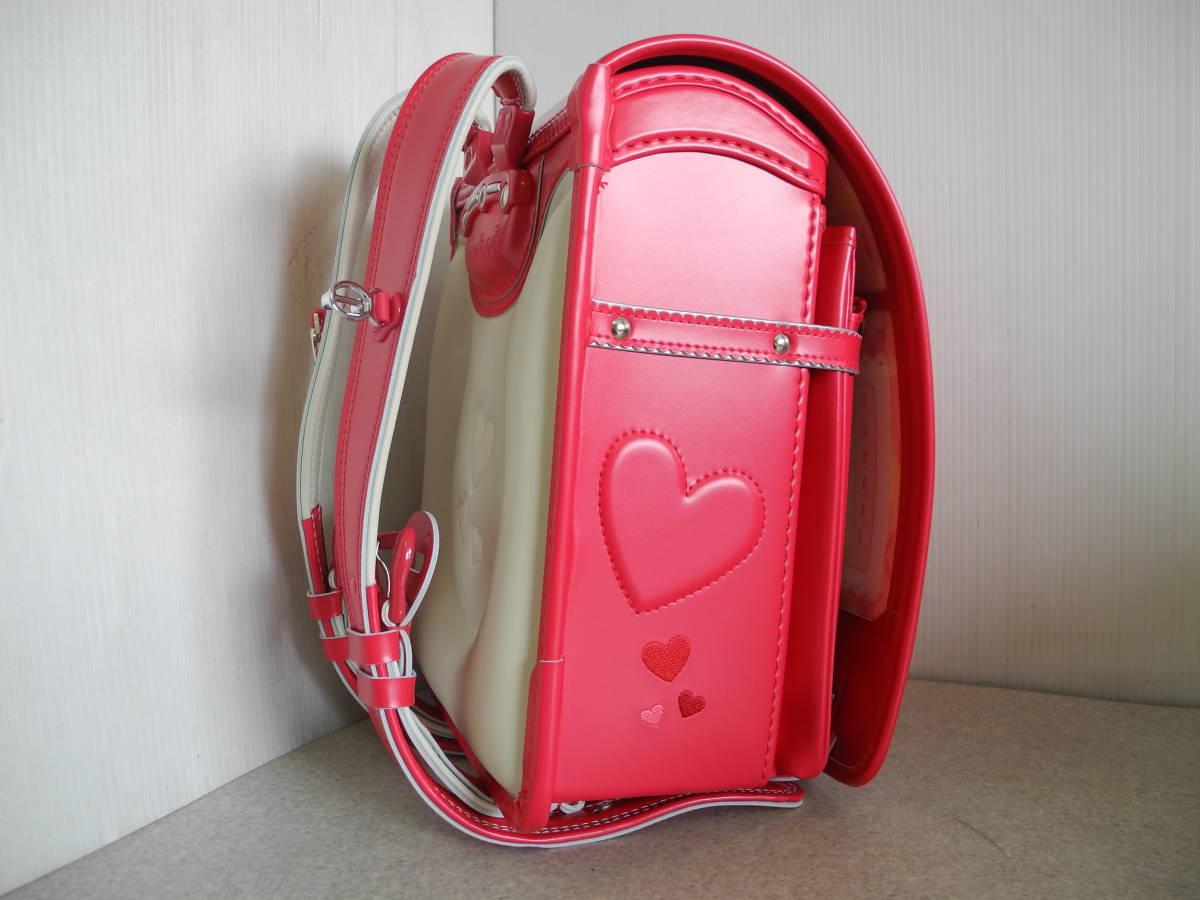 ●未使用 展示品!セイバン 天使のはね ランドセル ラブピ 女の子 ビビットピンク 赤に近いピンク A4ファイルOK!L-43_画像4