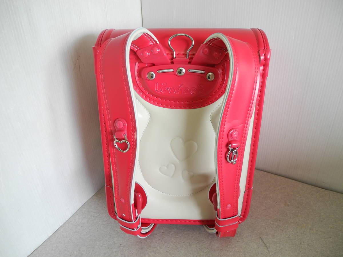 ●未使用 展示品!セイバン 天使のはね ランドセル ラブピ 女の子 ビビットピンク 赤に近いピンク A4ファイルOK!L-43_画像5