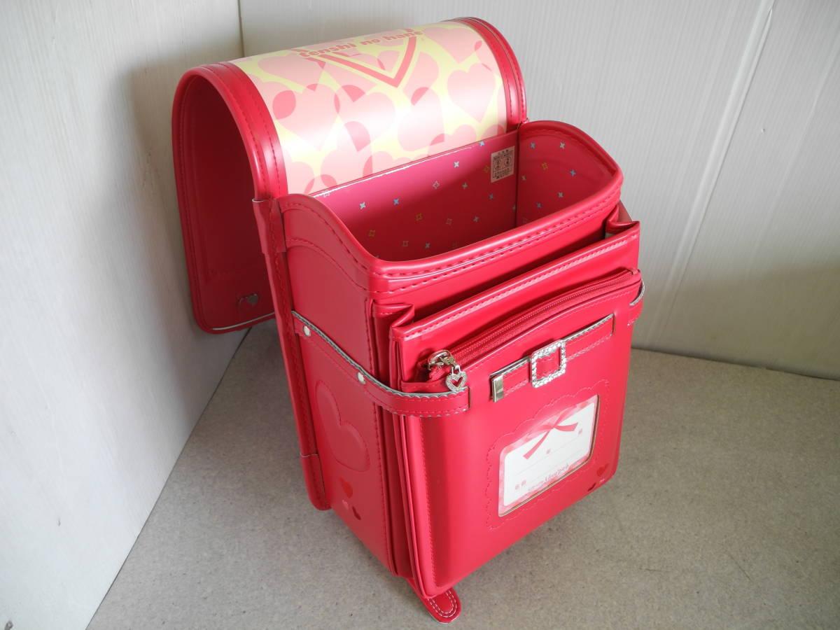 ●未使用 展示品!セイバン 天使のはね ランドセル ラブピ 女の子 ビビットピンク 赤に近いピンク A4ファイルOK!L-43_画像6