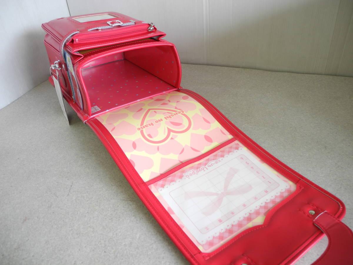 ●未使用 展示品!セイバン 天使のはね ランドセル ラブピ 女の子 ビビットピンク 赤に近いピンク A4ファイルOK!L-43_画像7