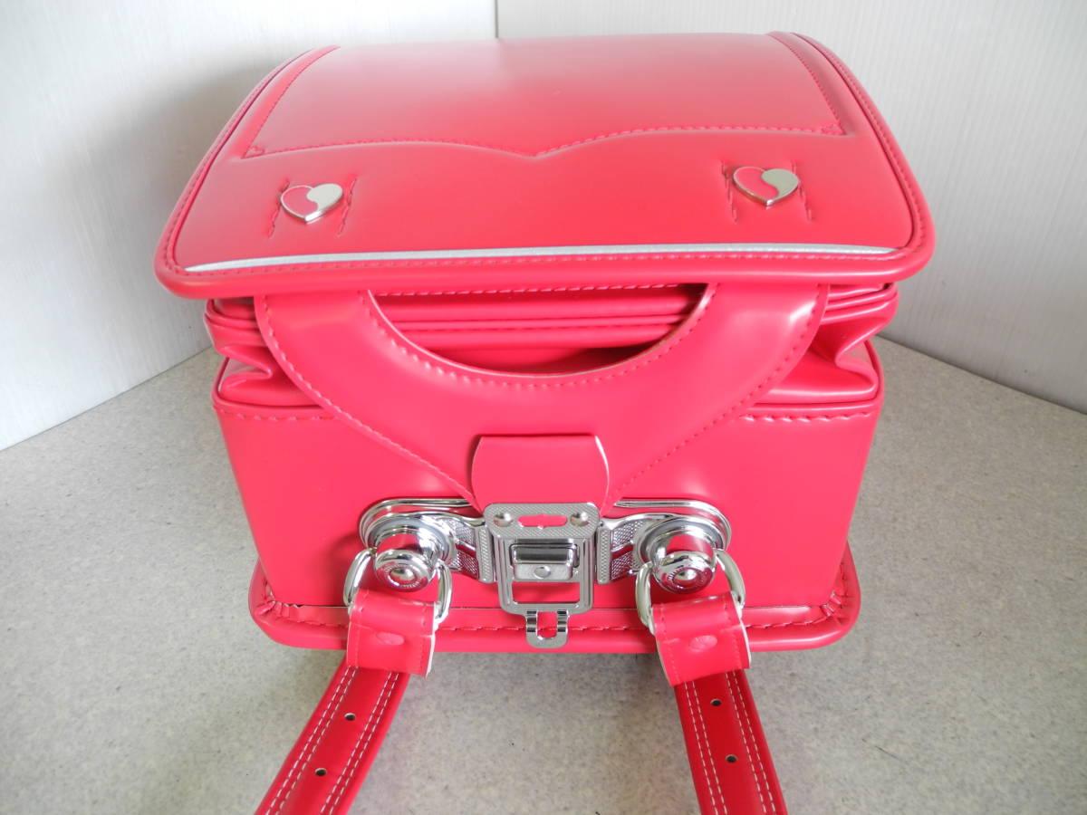 ●未使用 展示品!セイバン 天使のはね ランドセル ラブピ 女の子 ビビットピンク 赤に近いピンク A4ファイルOK!L-43_画像8