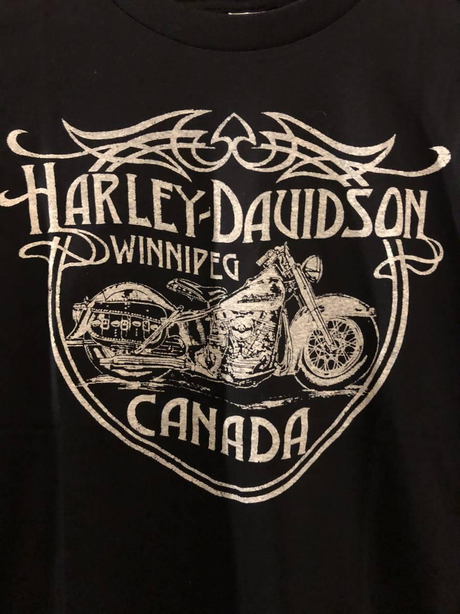 新品★ハーレーダビッドソン モーターサイクル ビンテージスタイル Tシャツ★HARLEY DAVIDSON/MOTORCYCLES/CANADA_画像2