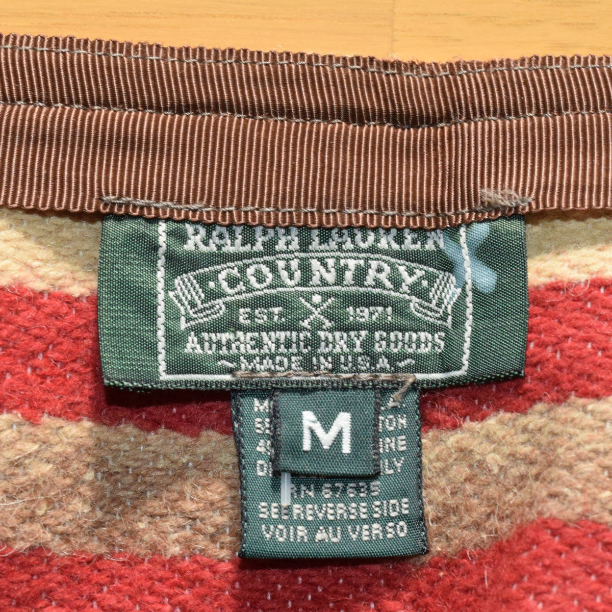美品!USA製 ポロカントリー ネイティブ柄 ブランケット M ラグ ロング 巻きスカート コンチョ付 古着 ナバホ インディアン ビンテージ_画像10