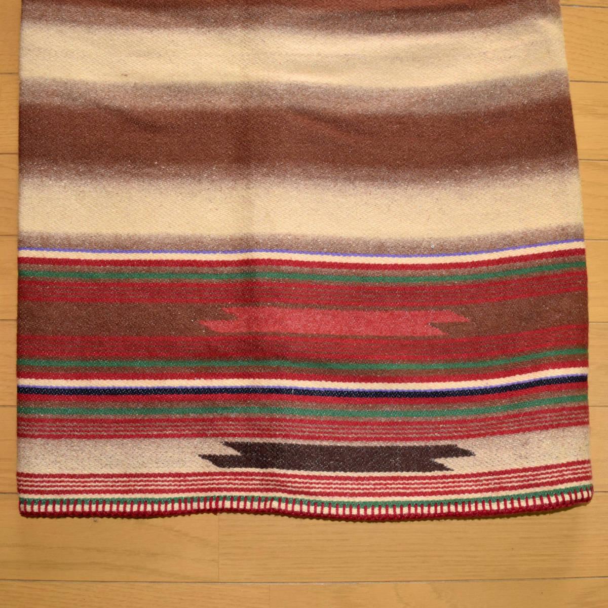 美品!USA製 ポロカントリー ネイティブ柄 ブランケット M ラグ ロング 巻きスカート コンチョ付 古着 ナバホ インディアン ビンテージ_画像9