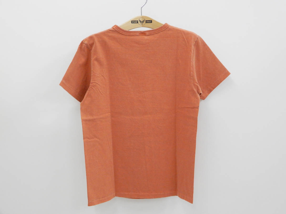 多少汚れあり 50%オフ即決 (Mサイズ) バーンズ BARNS 半袖 Tシャツ BR-6715 ペンギン柄 オレンジ 新品_画像2