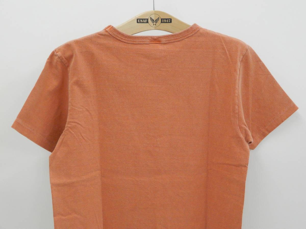 多少汚れあり 50%オフ即決 (Mサイズ) バーンズ BARNS 半袖 Tシャツ BR-6715 ペンギン柄 オレンジ 新品_画像4