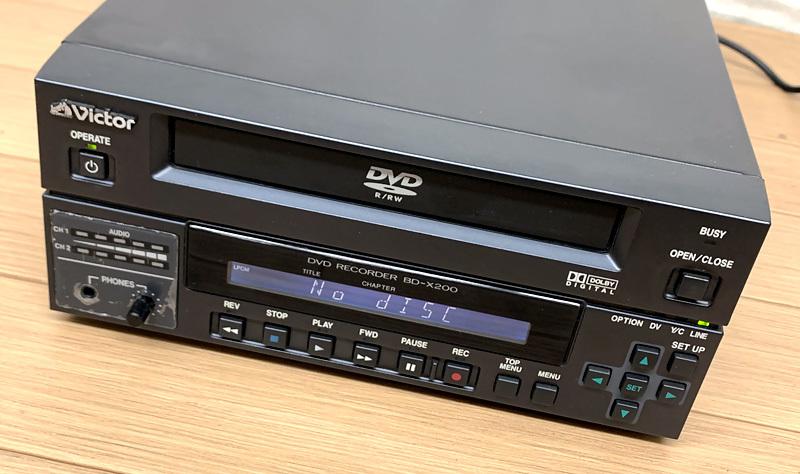 ■Victor BD-X200 業務用DVDレコーダー オーサリングレコーダー ビクター■_画像2