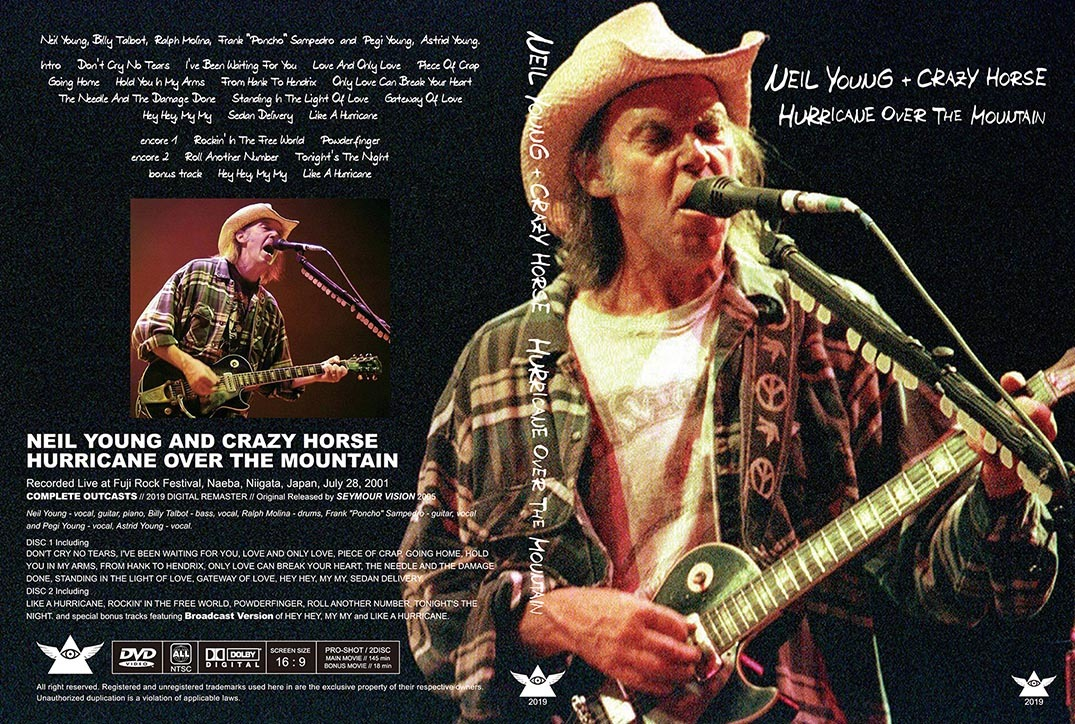 NEIL YOUNG & CRAZY HORSE / HURRICANE OVER THE MOUNTAIN - UP GRADE EDITION フジロック 2001 新品プレス盤2DVD_画像3