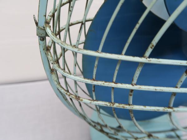 498 東芝 昭和レトロ 扇風機 HD型 わすれな草 空色(ツートン) 中古 動作確認済み_画像7