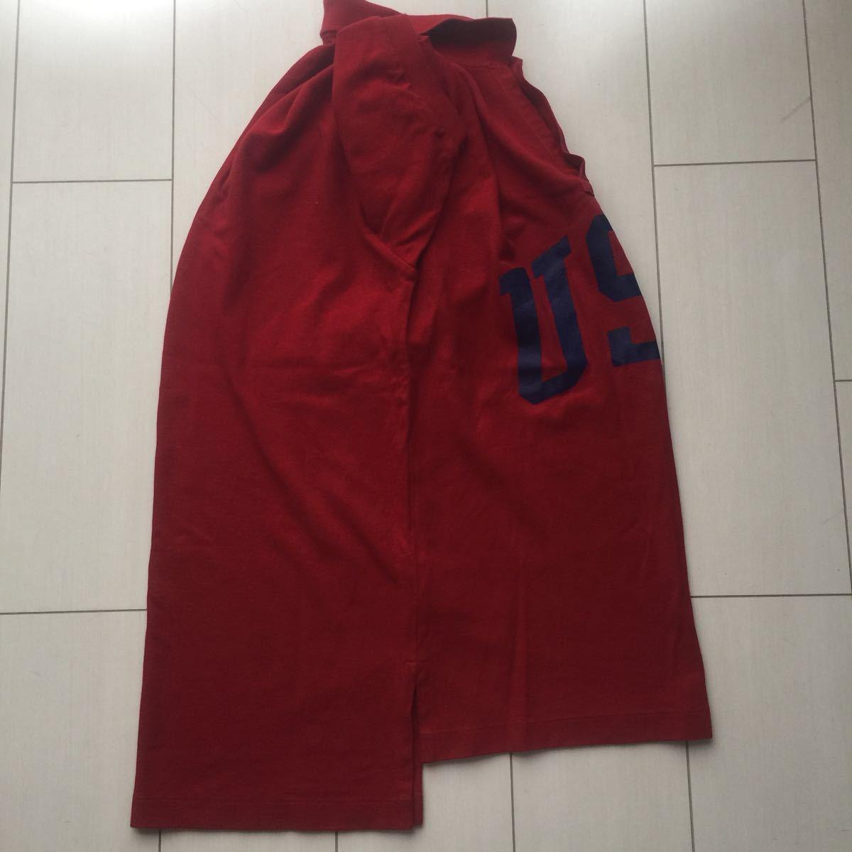 送料無料 90s polo sport ポロスポーツ ラルフローレン USA アーチロゴ ポロシャツ vintage ビンテージ レッド バーガンディ M rrl country_画像9
