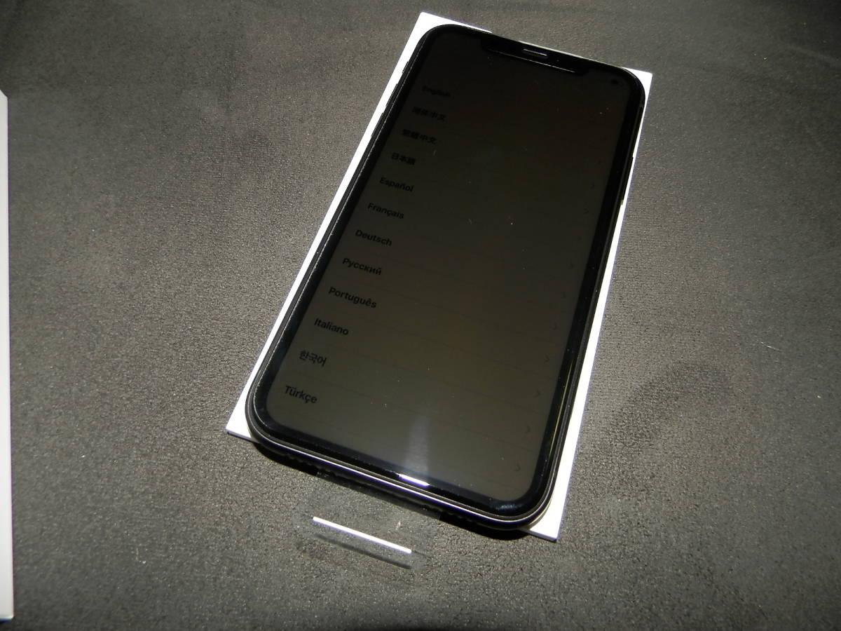 未使用/開封品 au iPhone XR 64GB 黒/ブラック 判定○ SIMフリー/SIMロック解除済み _画像3