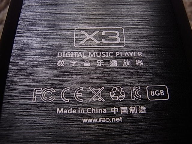 FiiO X3 初代 ハイレゾ 高音質 デジタルオーディオプレーヤー 送料210 使用少_画像4