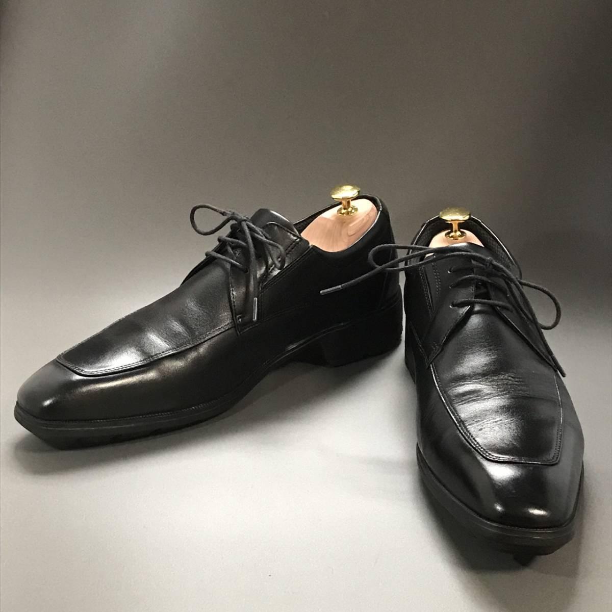 ☆ texcy luxe アシックス商事 TEXCY LUXE 本革軽量 Uチップ ブラック 26.5㎝ テクシー ビジネスシューズ 革靴