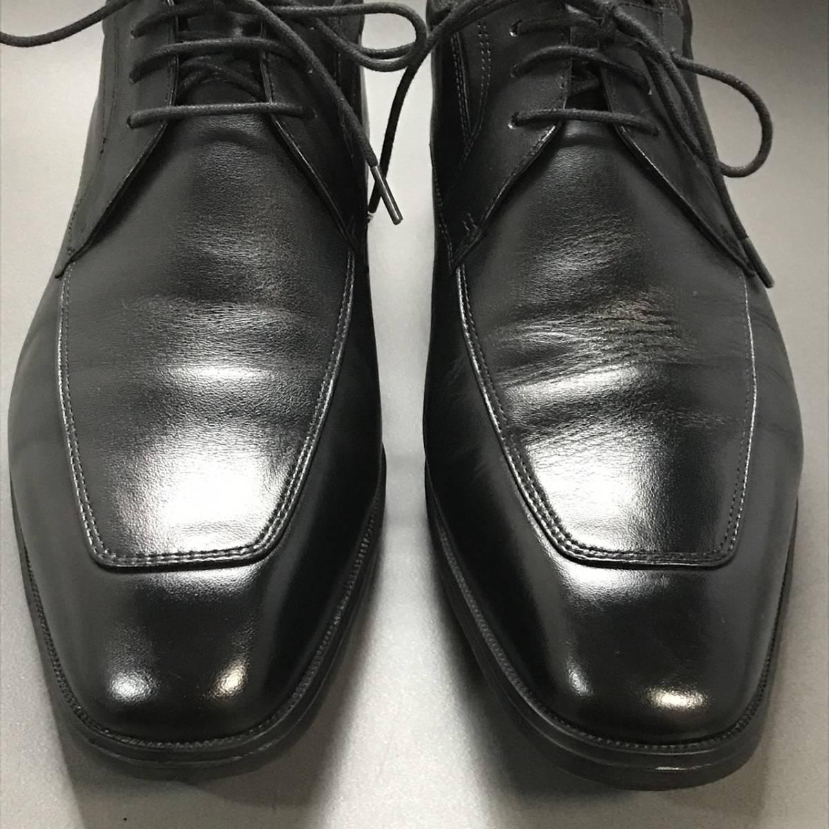 ☆ texcy luxe アシックス商事 TEXCY LUXE 本革軽量 Uチップ ブラック 26.5㎝ テクシー ビジネスシューズ 革靴_画像2
