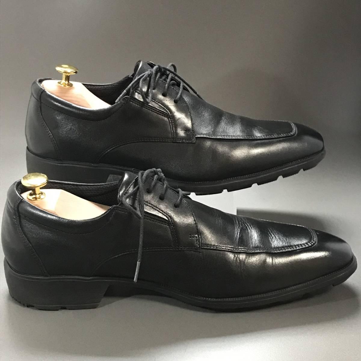 ☆ texcy luxe アシックス商事 TEXCY LUXE 本革軽量 Uチップ ブラック 26.5㎝ テクシー ビジネスシューズ 革靴_画像5