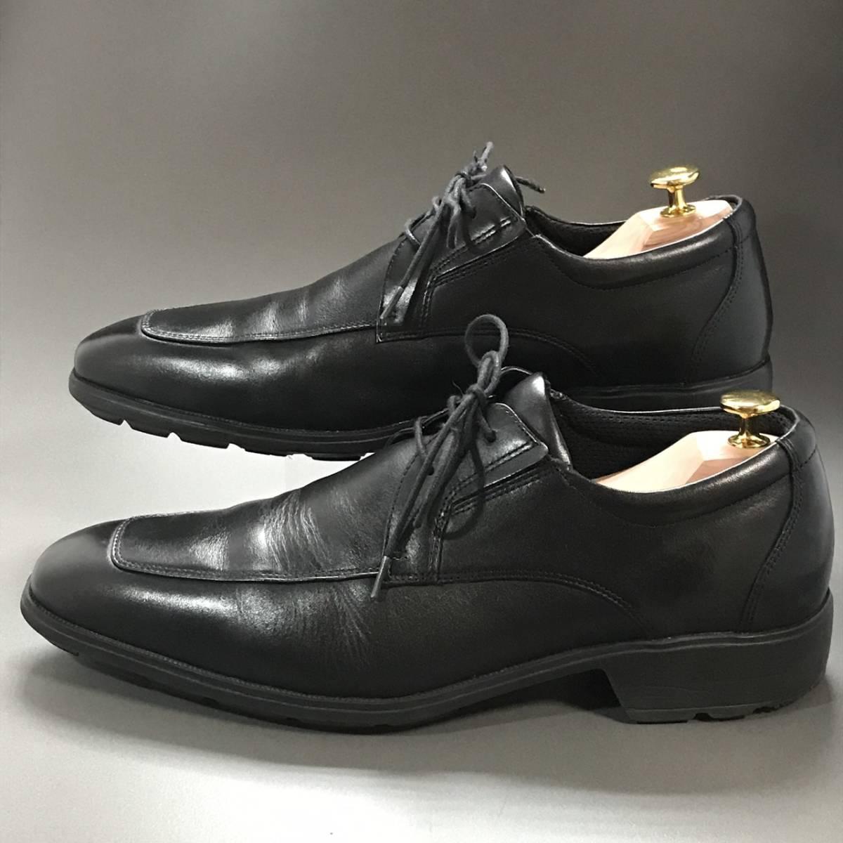 ☆ texcy luxe アシックス商事 TEXCY LUXE 本革軽量 Uチップ ブラック 26.5㎝ テクシー ビジネスシューズ 革靴_画像4