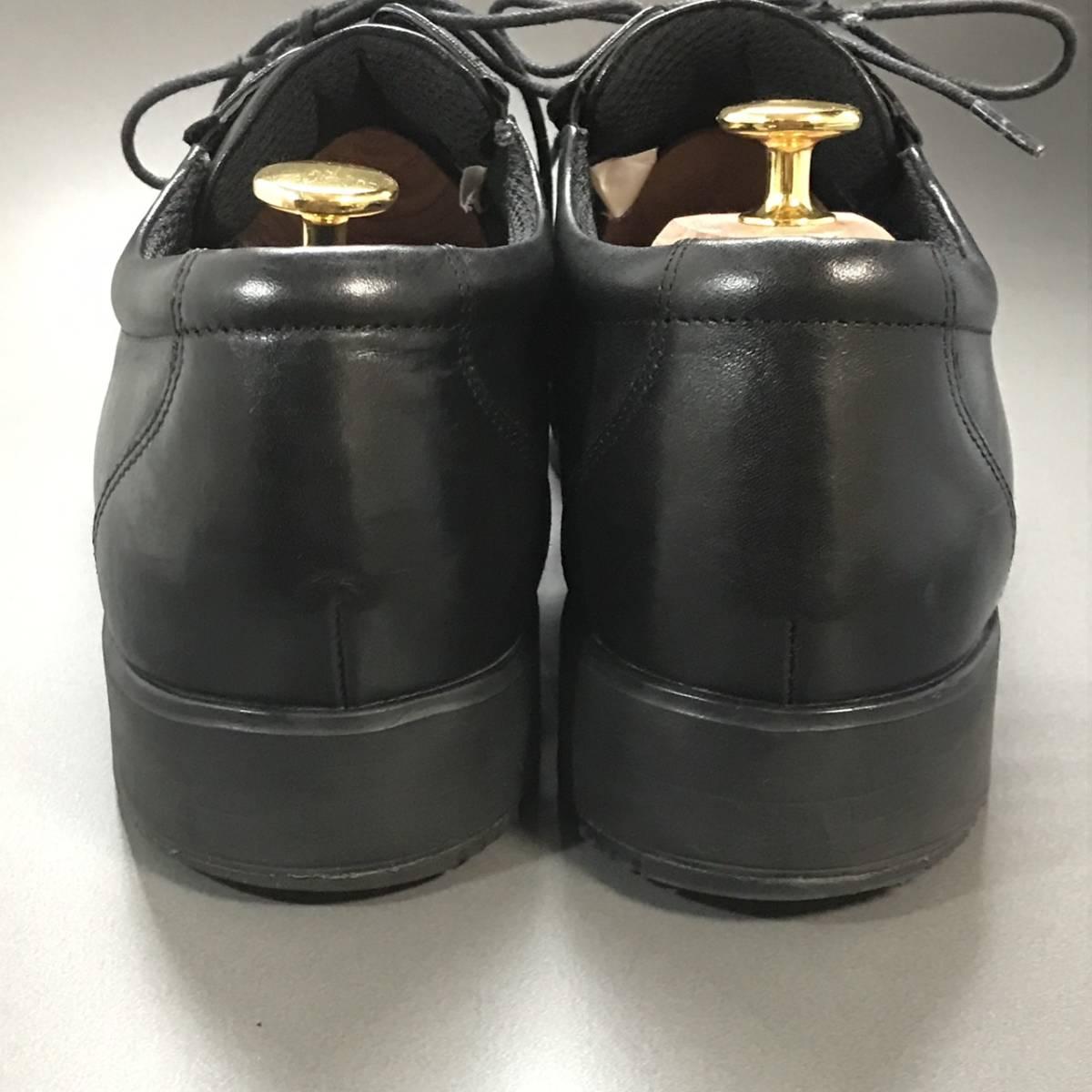 ☆ texcy luxe アシックス商事 TEXCY LUXE 本革軽量 Uチップ ブラック 26.5㎝ テクシー ビジネスシューズ 革靴_画像3