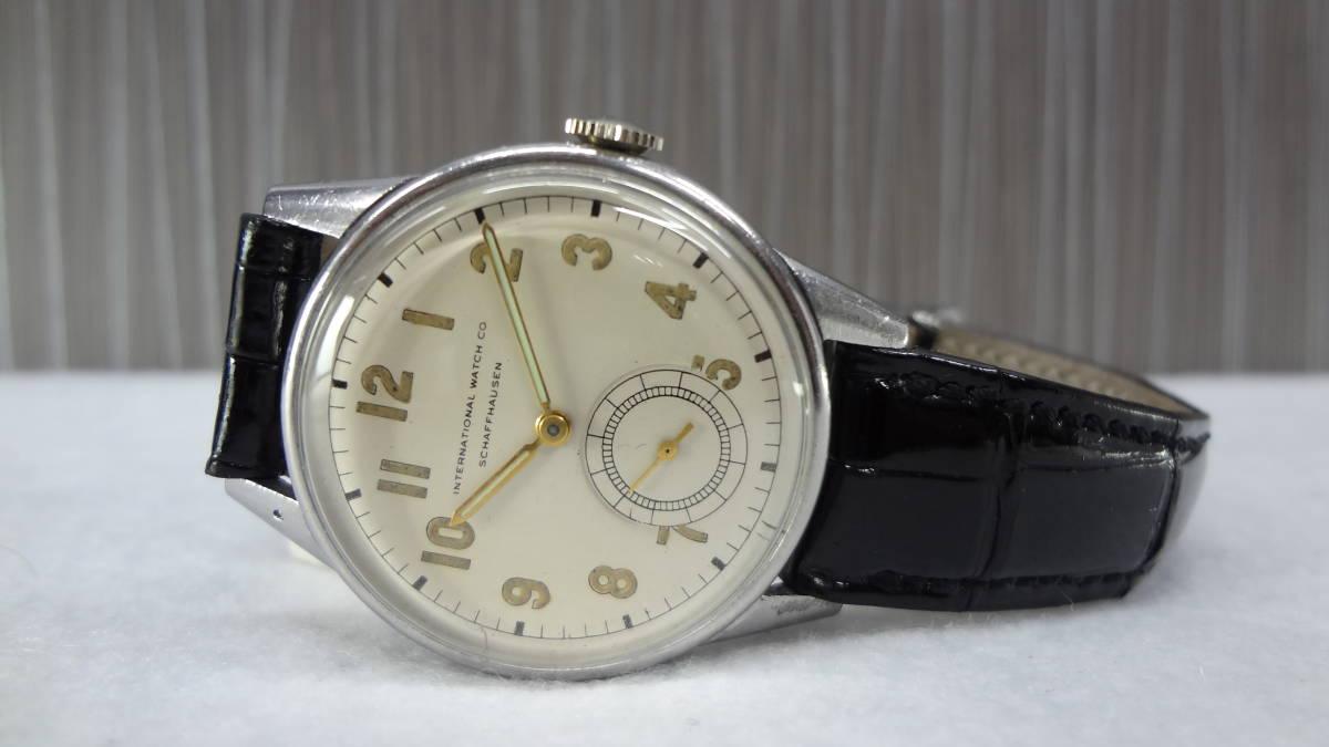 ◆アンティーク時計◆ IWC CHAFFHAUSEN シャフハウゼン メンズ 手巻き スモールセコ インターナショナル ウォッチ カンパニー M-04039_画像9