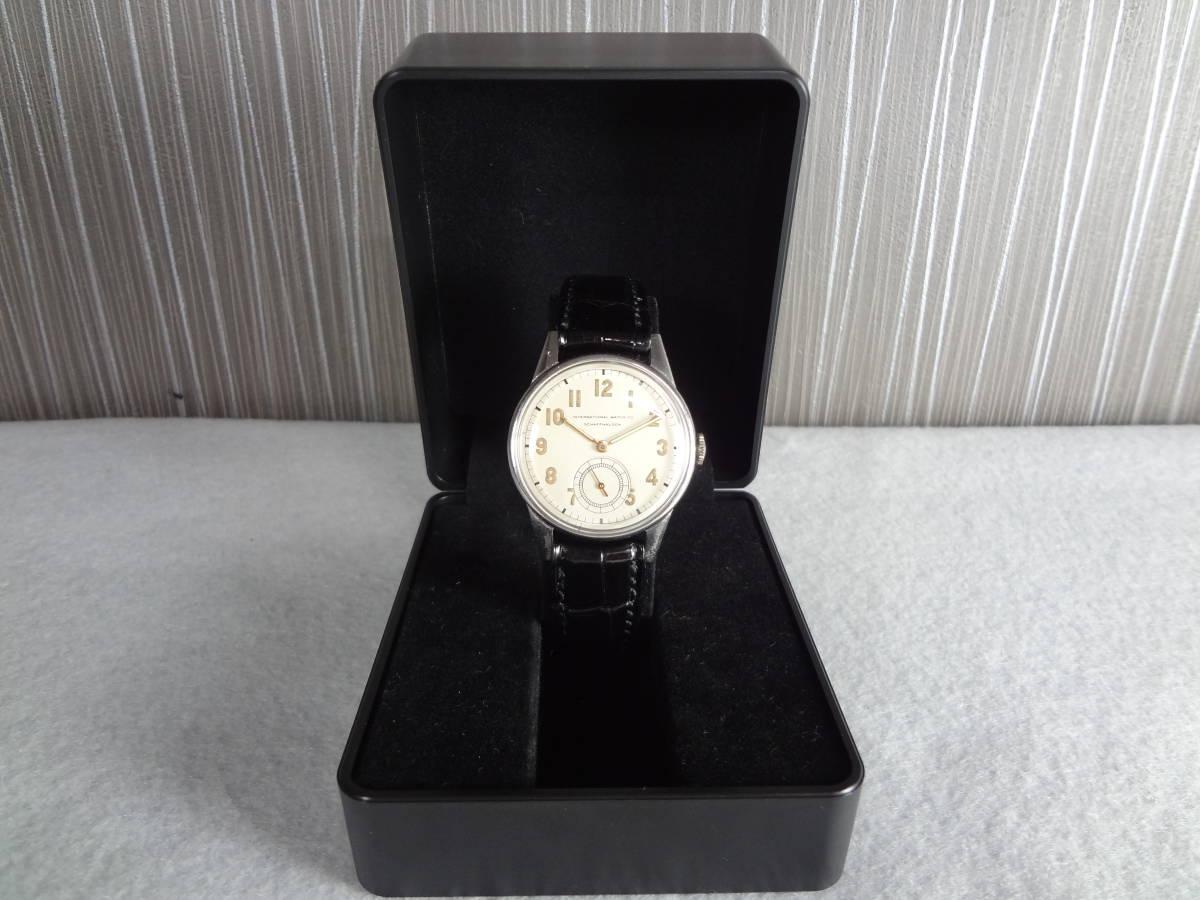◆アンティーク時計◆ IWC CHAFFHAUSEN シャフハウゼン メンズ 手巻き スモールセコ インターナショナル ウォッチ カンパニー M-04039_画像2
