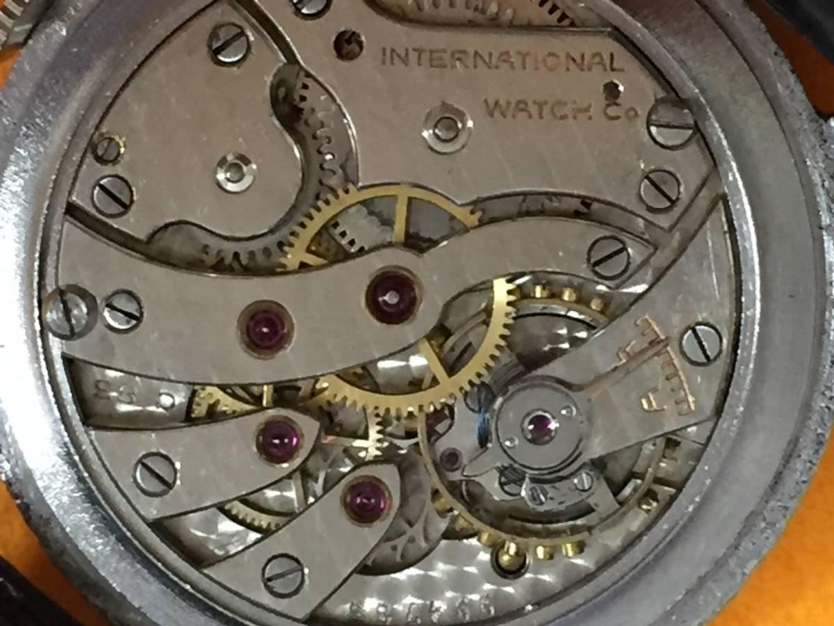 ◆アンティーク時計◆ IWC CHAFFHAUSEN シャフハウゼン メンズ 手巻き スモールセコ インターナショナル ウォッチ カンパニー M-04039_画像4