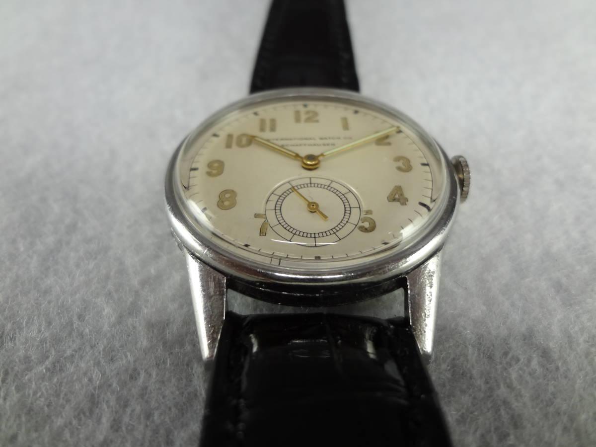 ◆アンティーク時計◆ IWC CHAFFHAUSEN シャフハウゼン メンズ 手巻き スモールセコ インターナショナル ウォッチ カンパニー M-04039_画像6