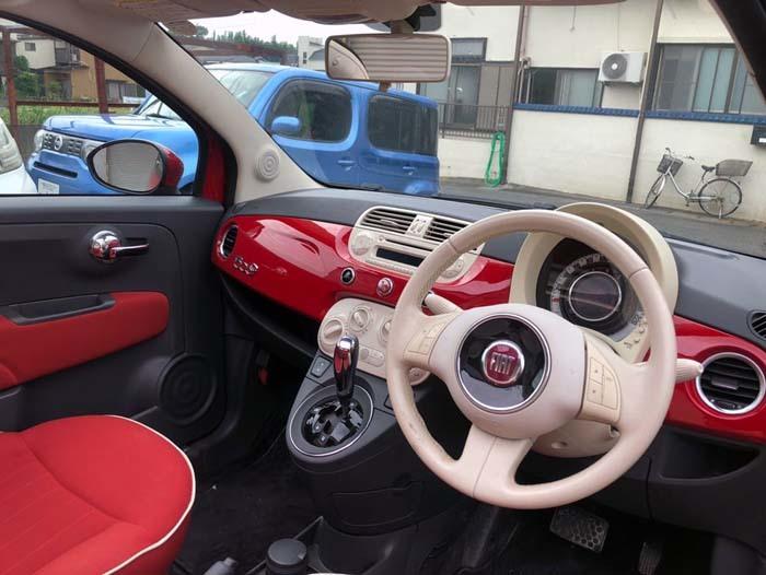 ★売切★ H25 フィアット 500C オープンカー 車検令和2年4月まで_画像9
