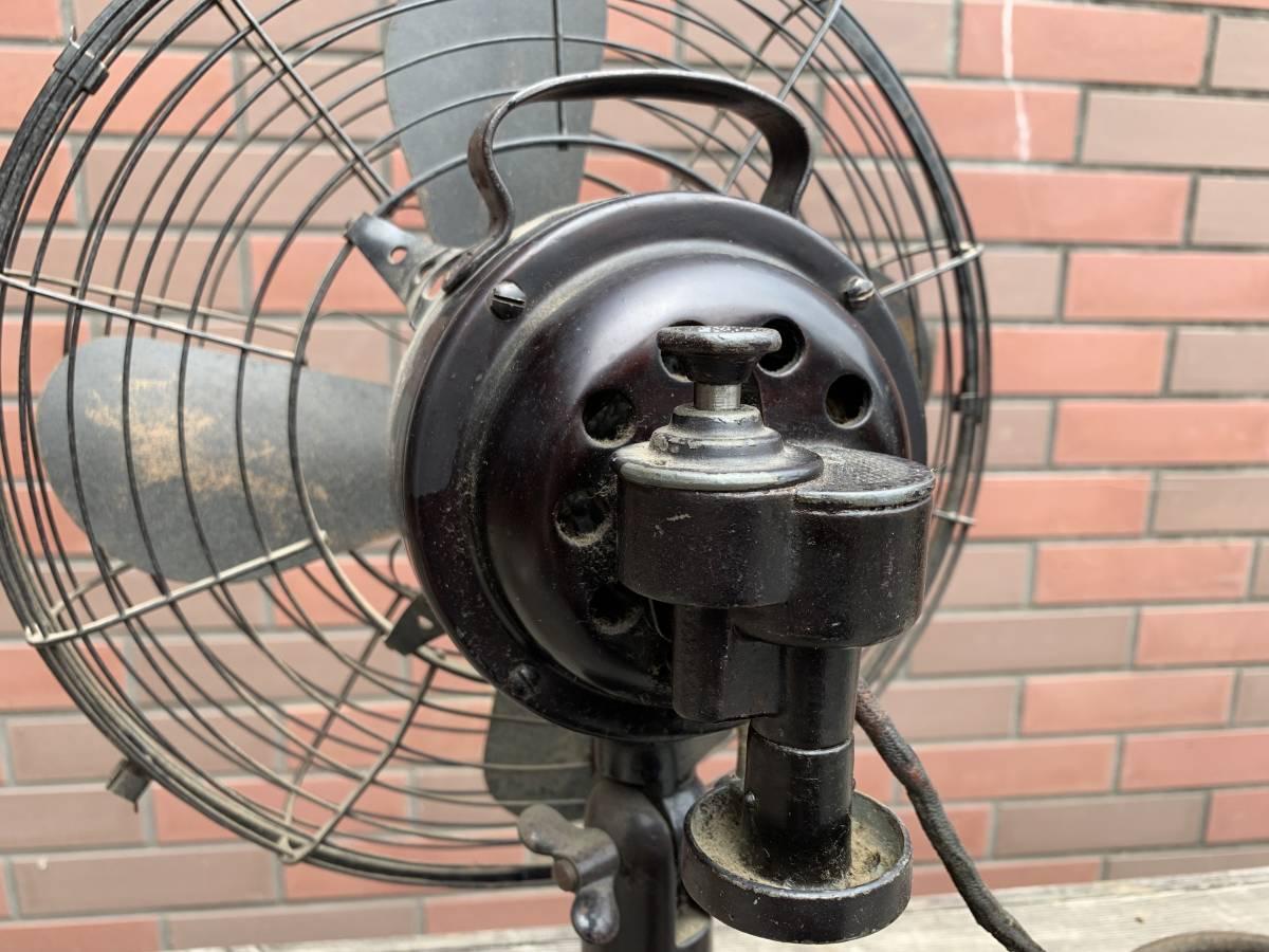古い三菱電機・電気扇/扇風機/大正~昭和初期頃/稼動品・ジャンク扱い_画像7
