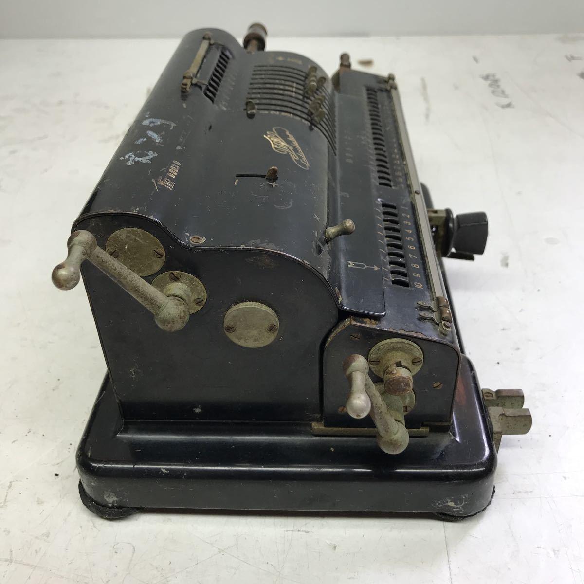 Tiger calculator タイガー計算機手回し 黒 ブラック 昭和レトロ タイガー 機械式計算機 アンティーク 手動式 _画像5
