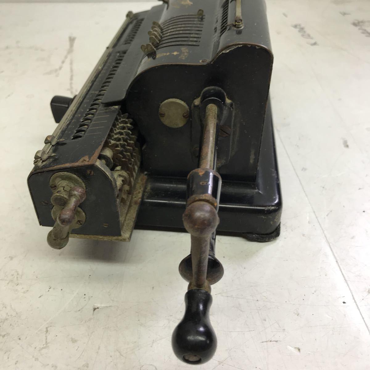 Tiger calculator タイガー計算機手回し 黒 ブラック 昭和レトロ タイガー 機械式計算機 アンティーク 手動式 _画像6