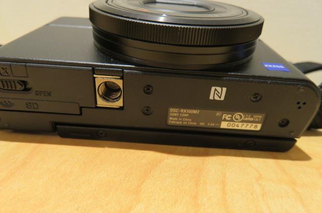 [20896] SONY ソニー DSC-RX100M2 サイバーショット デジタルスチルカメラ ブラック バッテリー無しのため動作未確認_画像4