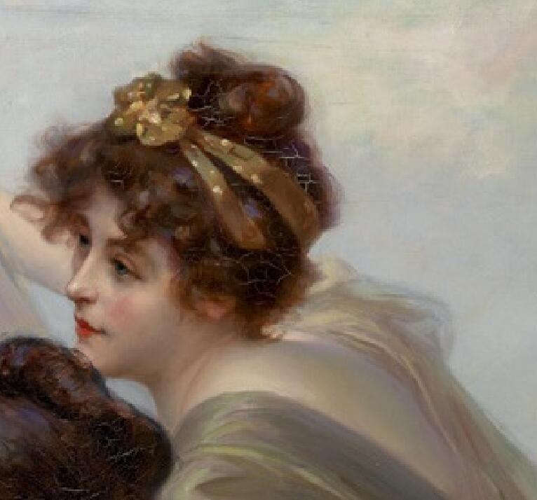 美術品 絵画 油彩 人物画 油絵 洋画 CH5_画像5