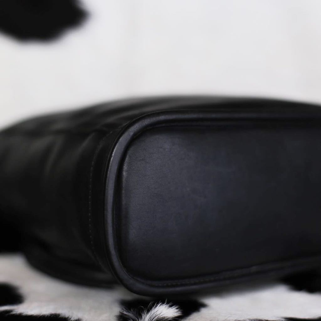 極美品 美品 コーチ COACH トートバッグ バッグ ビジネスバッグ ブラック 黒 レザー メンズバッグ 牛革 16万 オールドコーチ ビンテージ _画像7
