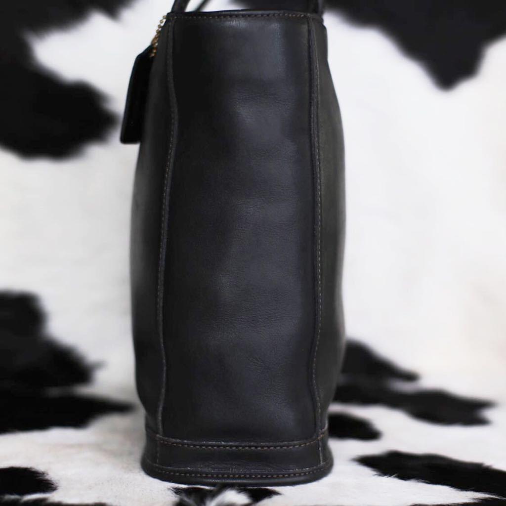 極美品 美品 コーチ COACH トートバッグ バッグ ビジネスバッグ ブラック 黒 レザー メンズバッグ 牛革 16万 オールドコーチ ビンテージ _画像4