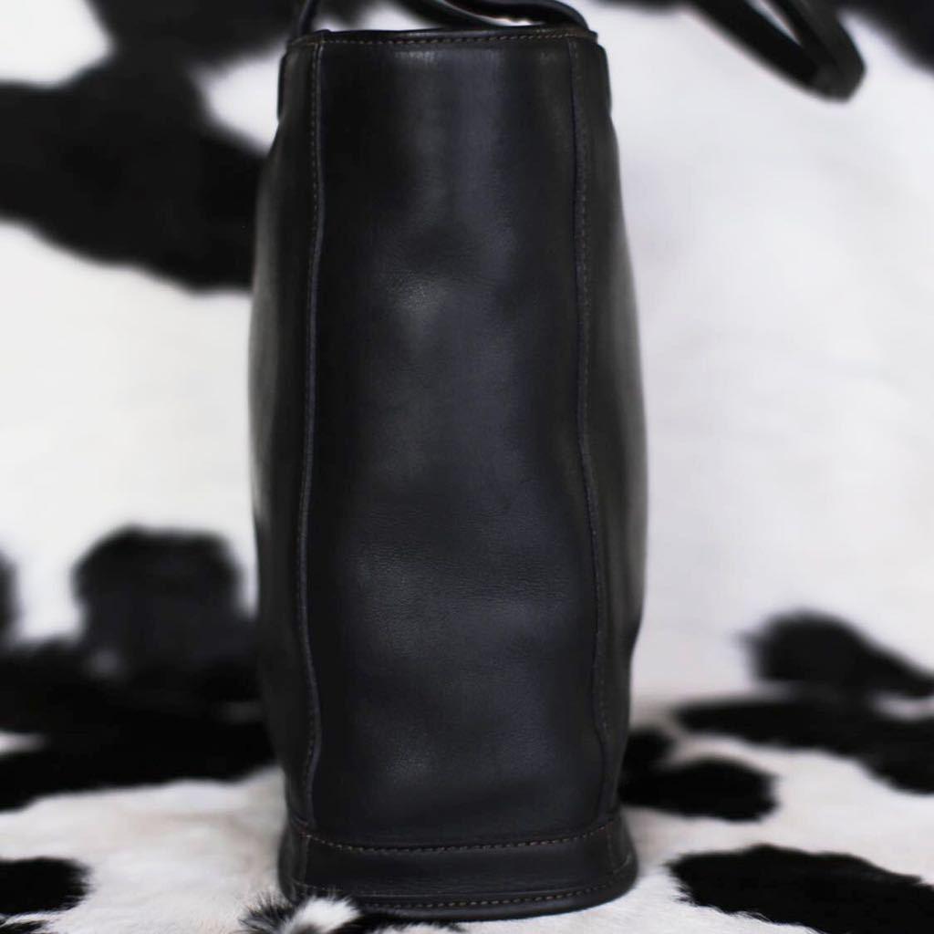 極美品 美品 コーチ COACH トートバッグ バッグ ビジネスバッグ ブラック 黒 レザー メンズバッグ 牛革 16万 オールドコーチ ビンテージ _画像3