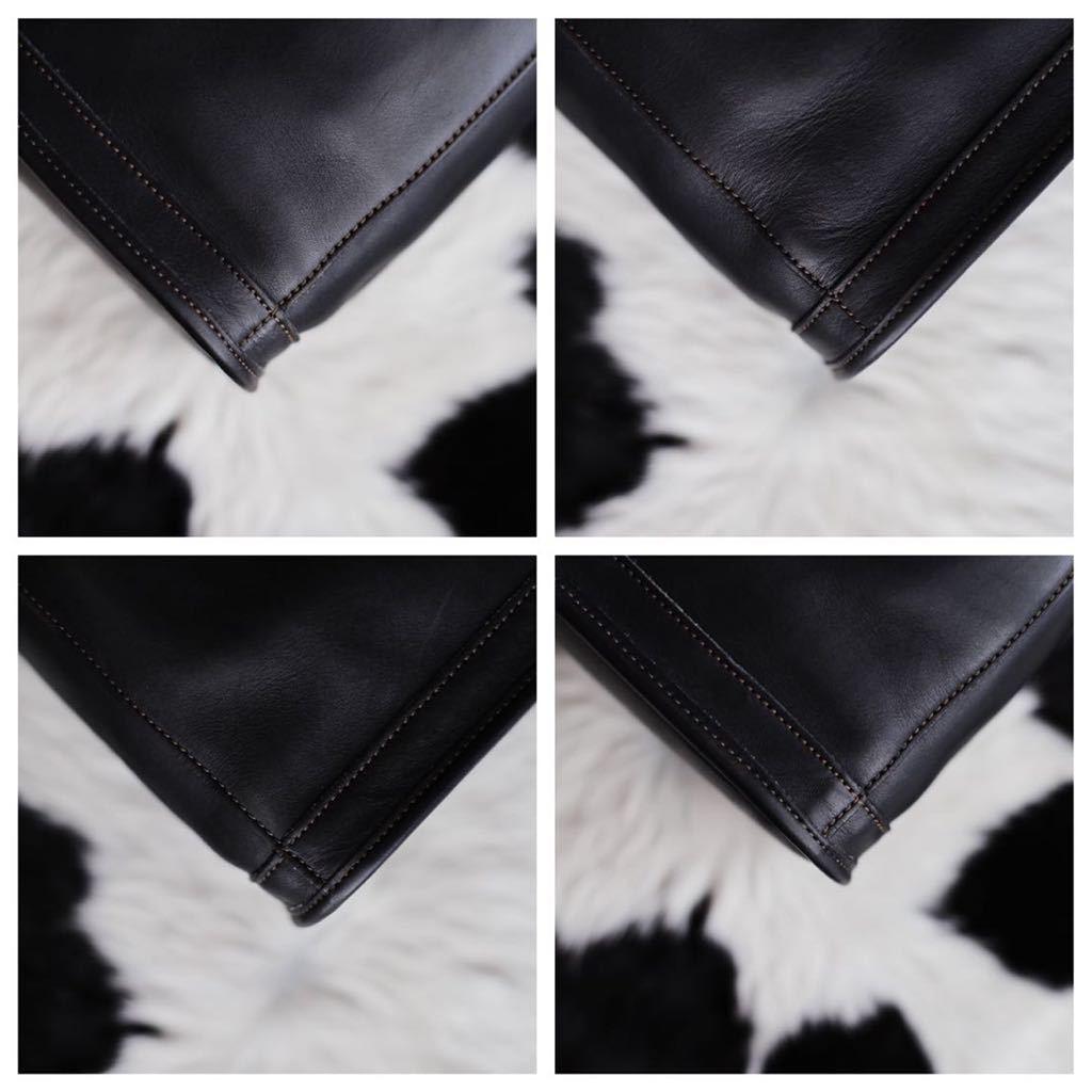 極美品 美品 コーチ COACH トートバッグ バッグ ビジネスバッグ ブラック 黒 レザー メンズバッグ 牛革 16万 オールドコーチ ビンテージ _画像5