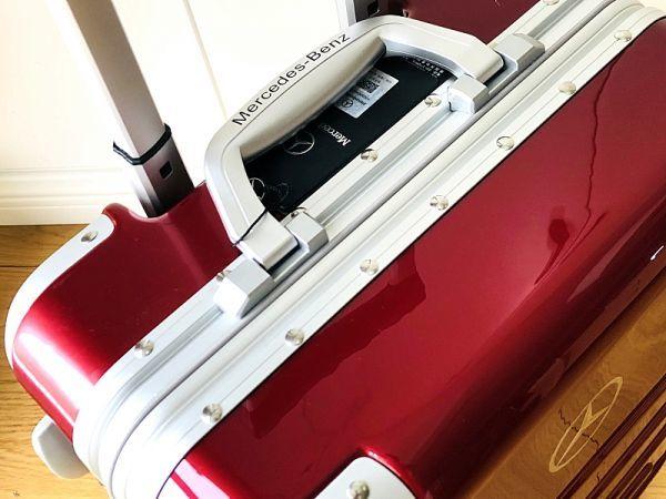 最高級★Mercedes-Benz ※アルミフレーム・軽量/静音・オリジナル・スーツケース/キャリーケース/機内持ち込可/20インチ/赤_画像5